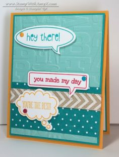 Stampin' Up! Just Sayin', Word Bubbles Framelits; 2 - Stamp With Amy K