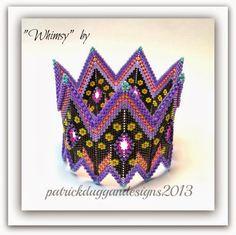 patrickduggandesigns unique artisan jewellery: Contemporary Geometric Beadwork