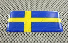 Sweden Flag 3D Domed Decal Sticker