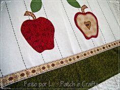 Feito por Li - Patchwork e Crafts: Guardanapo de Cozinha em Patch-apliqué maças...