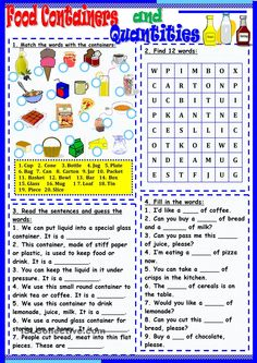 Food Containers and Quantities