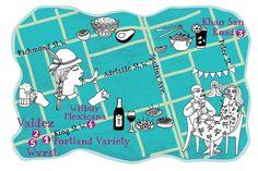 Illustrated maps of Toronto neighborhoods for Toronto Life Magazine.