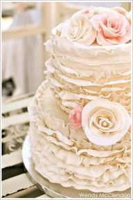 Ruffle Cake Cakes Fancy Pinterest Wedding And