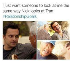 New Girl-Nick & Tran #relationshipgoals