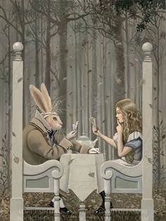 "The Game  - ""Alice's Adventures in Wonderland"" by David Delamare."