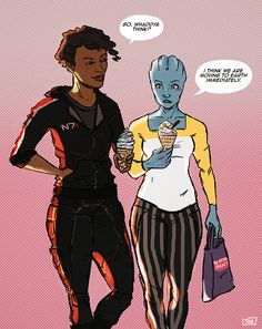 Liara tries ice cream for the first time, has deeply spiritual experience