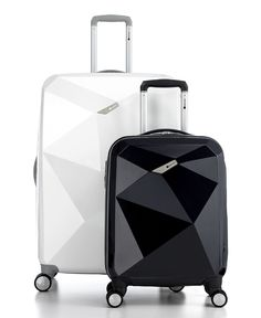 Fashion meets function - these totally cool looking suitcases will also protect your stuff from the rough treatment they get at the airport!