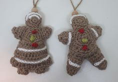 gingerbread man and woman crochet pattern christmas decorations free