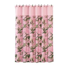 Your favorite pattern meets your favorite color in the HiEnd Accents Pink Oak Camo Polyester Shower Curtain . This pink camouflage shower curtain comes. Camo Curtains, Western Curtains, Western Bedding, Rustic Bedding, Shower Curtains, Camo Bathroom, Bathroom Ideas, Bathroom Stuff, Bathrooms