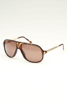 Safari Sunglasses In Dark Havana Stripe & Brown http://www.beyondtherack.com/member/invite/B7C53751