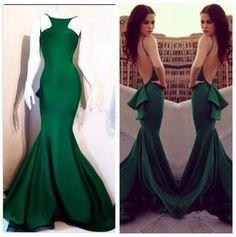 green prom Dress,backless Prom Dress,mermaid prom dress,evening dress,Long prom dress,BD1026