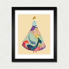 Art Illustration Print 8 x 10 the Pisces woman by EinBierBitte, $19.99