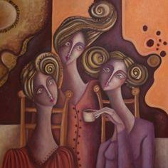Painter Ingrid Tusell Domingo Mixed Media Figurative Art, Artist Study for Art… Painting People, Figure Painting, Expressionist Artists, Expressionism, Art Through The Ages, Arte Pop, Art Portfolio, Face Art, Art Faces