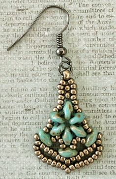 "Linda's Crafty Inspirations: Nunzia's ""Earrings Number One"" - My Variations"