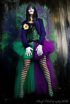 The Joker Adult tutu skirt Cosplay costume formal bustle trail bridal