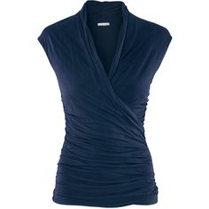 Figure-fit wraparound top with gathers in the sides. Details 100% viscose. Machine wash at 40˚