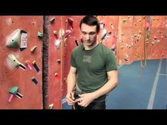Rock Climbing for Beginners- Video 3- Being The Climber  excellent description of step by step figure eight retrace tie in