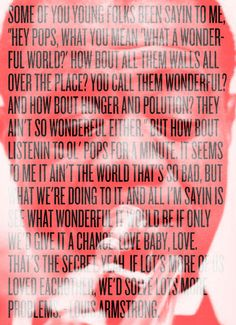 Poster: The wisdom of LouisArmstrong. Eric Gorvin.