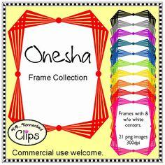 Dollar Deal! Onesha Frames $ http://www.teacherspayteachers.com/Product/Dollar-Deal-Onesha-Frames-1509984