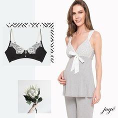 Para as futuras mamães, pijama e sutiã para amamentação ❤️ www.joge.com.br