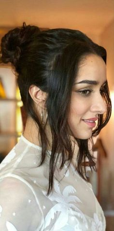 The most Beautiful Shraddha Kapoor in Pune Indian Celebrities, Bollywood Celebrities, Indian Bollywood Actress, Indian Actresses, Most Beautiful Indian Actress, Beautiful Actresses, Long Curly Hair, Curly Hair Styles, Shraddha Kapoor Cute