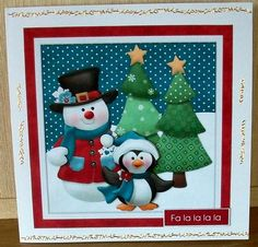 Christmas Friends on Craftsuprint designed by Chris Harland - made by Cheryl French - Printed onto glossy photo paper. Attached base image to card stock suing ds tape. Built up image with 1mm foam pads. Added peel offs. - Now available for download!