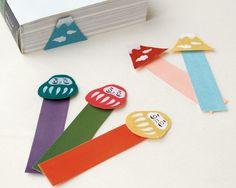 daruma & mt.fuji bookmarks