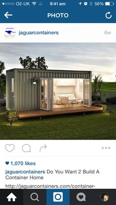 Shipping container office space