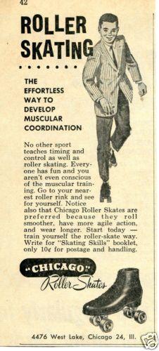 1961 Chicago Roller Skates Magazine Ad | eBay