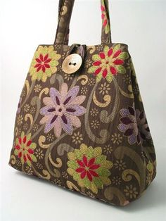 floral tapestry tote bag: