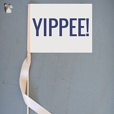 YIPPEE Sign Handcrafted Banner for Ring Bearer or Flower Girl Flag 1181 - Wedding table decor (*Amazon Partner-Link)