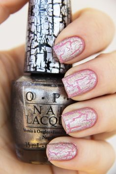silver shatter on pink