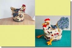 usführliche Schritt-für-Schritt-Nähanleitung für ein Brotkörbchen-Huhn mit rundem Boden und Kordelzug.