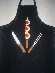 Blog La Pequetita: AVENTAIS MASCULINOS Cute Aprons, Aprons For Men, Human Height, Sewing Leather, Leather Projects, Applique Patterns, Soft Furnishings, Paper Dolls, Kitchen Decor