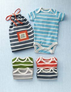 5 Pack Bodies, colorful striped bodysuits (Mini Boden)