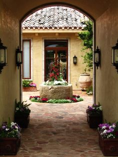 Patio Mexican Courtyard Design, Pictures, Remodel, Decor and Ideas