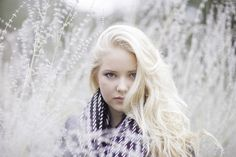 Platinum blonde senior portraits | Pensacola FL portrait photographers