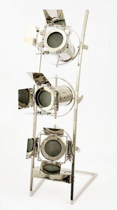 Nautical floor lamp sliver chrome finished designed for corner rooms and office , Medium sized floor lamps from a designer lighting brand Smithers of Stamford Cool Lighting, Lighting Design, Chrome Finish, Game Room, Ceiling Fan, Wine Rack, Nautical, Home Appliances, Mirror