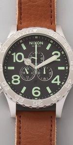 Nixon  51-30 Chrono Leather Watch  CA$ 350.26