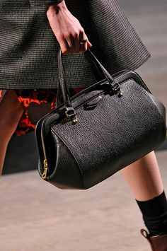 Marc by Marc Jacobs Fall 2012- Military theme to the entire show. I enjoy that this looks almost like a doctors bag.