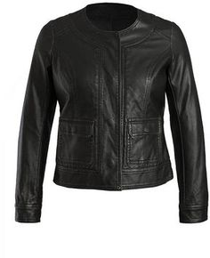 KUT FROM THE KLOTH Ainsley Snap Front Faux Leather Jacket on shopstyle.com
