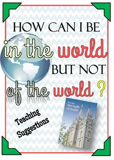 How can I live in the world but not of the world? - The Redheaded Hostess