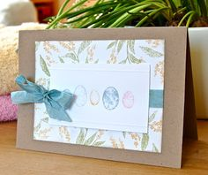 Stampin' Up ideas and supplies from Vicky at Crafting Clare's Paper Moments: Some Easter cards - using Nature Walk