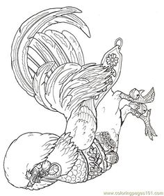 Free Rooster Pictures to Print free printable coloring page