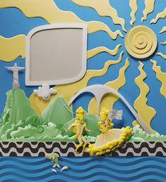 Carnival - Rio de Janeiro - Paper Sculpture - by: Carlos Meira