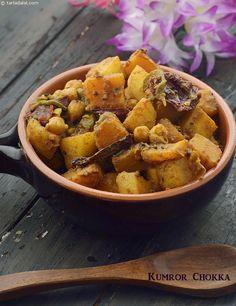 Kumror Chhokka , Bengali Potato and Pumpkin Sabzi recipe Bangladeshi Food, Bengali Food, Indian Veg Recipes, Vegetable Recipes, Kerala Recipes, Vegetarian Appetizers, Vegetarian Recipes, Saag Recipe, Easy Cooking