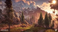 Horizon Zero Dawn 3D environment