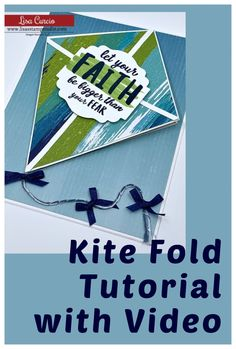 This kite fold card making video tutorial will walk you through the steps to make your card in minutes. It's fun, it's easy and it's a card that packs a WOW! Check it out at www.lisasstampstudio.com #kitefoldcardtutorial #kitefoldcard #cardmakingvideos #funfoldcards #uniquecardfolds #cardmakingideas #cardmaking #handmadecards #lisacurcio #lisasstampstudio #stampinup #stampinupcards Fun Fold Cards, Love Cards, Folded Cards, Card Making Tutorials, Card Making Techniques, Handmade Cards For Friends, Thanksgiving Cards, Unique Cards, Card Patterns