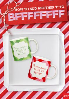 Give your bestie the perfect gift without breaking the bank. Hook your work friend up with an adorable (and honest) mug for under $25, then treat yo' self to a matching one!