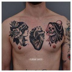 Peut-être quelque chose de plus traditionnel ?   49 idées sublimes de tatouages noir et gris